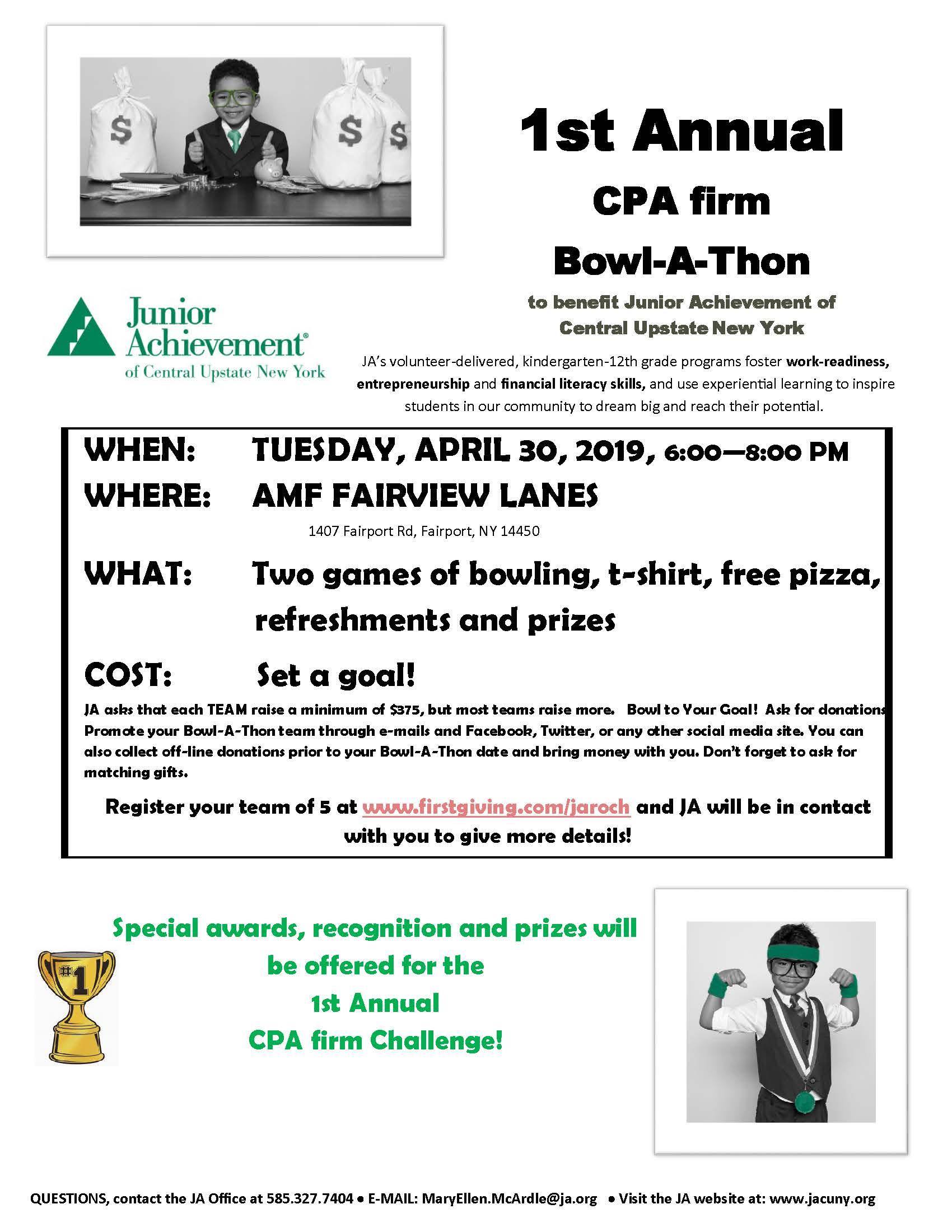 1st Annual CPA Bowl-A-Thon